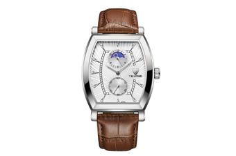 JunChang Multifunctional Non-mechanical Waterproof Watch Fully Automatic Rectangular Quartz Watch for Men-White