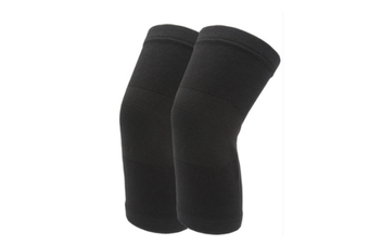 JunChang Thermal Cotton Knee Braces Leg Warmers Breathable Cozy Warm Knee Pads Leg Sleeves Support Protector Four Seasons Cold Leggings-Black
