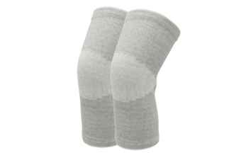 JunChang Thermal Cotton Knee Braces Leg Warmers Breathable Cozy Warm Knee Pads Leg Sleeves Support Protector Four Seasons Cold Leggings-Grey