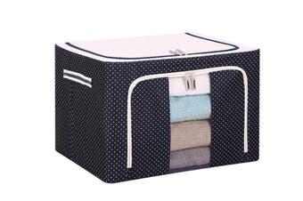 JunChang 22L Small Steel Frame Storage Box Finishing Box Quilt Storage Box Folding Wardrobe Cloth Storage Bag with Lid