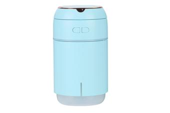 JunChang 400ml Mirror Baole Humidifier USB Car Portable Desktop with Night Light Makeup Mirror Atomizer-Blue