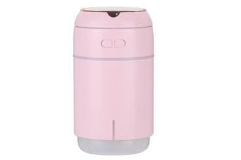 JunChang 400ml Mirror Baole Humidifier USB Car Portable Desktop with Night Light Makeup Mirror Atomizer-Pink