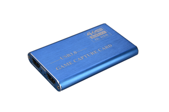 JunChang 4K HDMI Recording Box USB3.0 Driver-free Game Broadcaster Microphone HD Capture Card-Blue