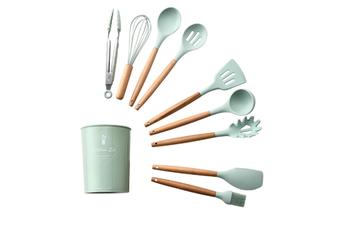 JunChang 9PCS Set Kitchenware Silicone Kitchenware Non-stick Silicone Shovel Spoon Kitchen Tool with Storage Bucket