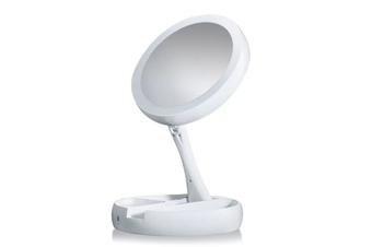 JunChang Desktop Multifunctional Makeup Mirror Rechargeable Table Lamp Double-sided Mirror Folding with Fill Light