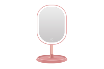 JunChang Creative Intelligent Rotatable Makeup Mirror LED with Light Touch Induction Vanity Mirror Energy-saving Vanity Mirror-Pink