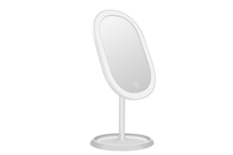 JunChang Creative Intelligent Rotatable Makeup Mirror LED with Light Touch Induction Vanity Mirror Energy-saving Vanity Mirror-White