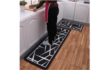 JunChang 2PCS Kitchen Carpet Floor Mat Bathroom Printing Stripe Cartoon Floor Mat Non-slip Door Mat Bath Mat-6#