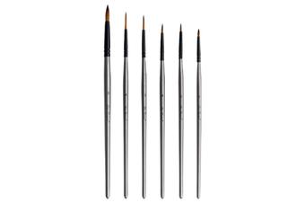 JunChang 6PCS Hook Line Pen Set Watercolor Brush Oil Brush Art Supplies Suitable for Watercolor Acrylic Painting