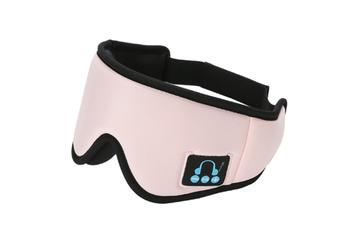 JunChang Wireless Music Sleep Eye Mask Bluetooth 5.0 Headset Call Shading and Breathable 3D Sleep Eye Mask-Pink