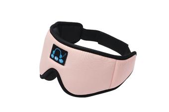 JunChang Smart 3D Eye Mask Bluetooth 5.0 Wireless Call Binaural Stereo Music Blackout Sleep Eye Mask-Pink