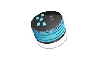 F08 Portable Speaker IPX7 Waterproof Support FM Radio High-fidelity Sound Box Bluetooth Speaker with Suction Cup & LED Light(Blue)