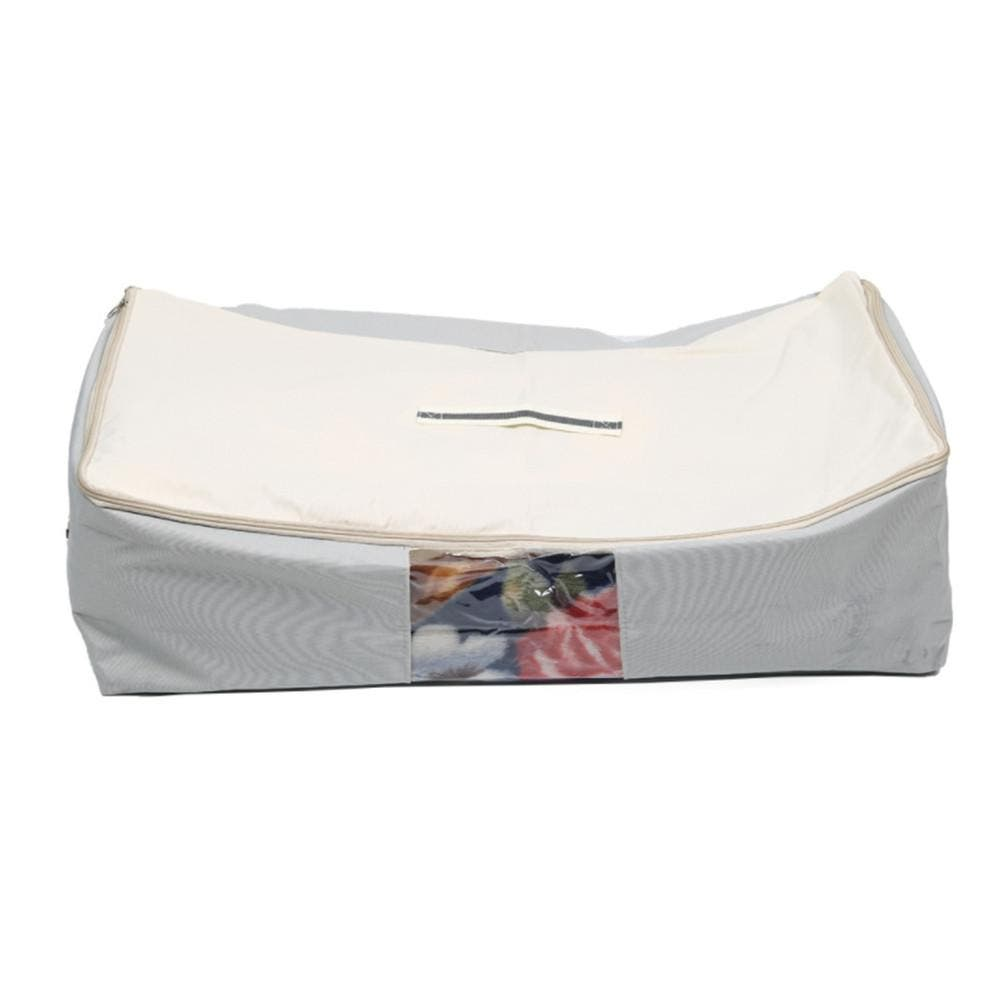 Foldable Oxford Cloth Quilt Container Blanket Clothing Organizer Waterproof Storage Bag(Light Grey) 1. Foldable storage makes things easy to find.  2. Made from fabric oxford with waterproof function,  material makes this clothes basket laundry durable for a long-term use. 3. With modern and stylish design. They are household life good helpers. 4. Suitable for most situations, such as toys, books, clothes, underwear storage. 5. Size: 40×20×70 cm