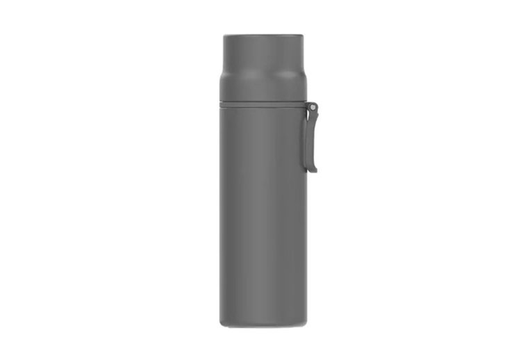 JunChang 450ml Household Large Capacity Thermos Water Bottle Outdoor Travel Kettle Cup Stainless-Steel Vacuum Insulated Bottle-Grey