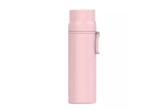 JunChang 450ml Household Large Capacity Thermos Water Bottle Outdoor Travel Kettle Cup Stainless-Steel Vacuum Insulated Bottle-Pink