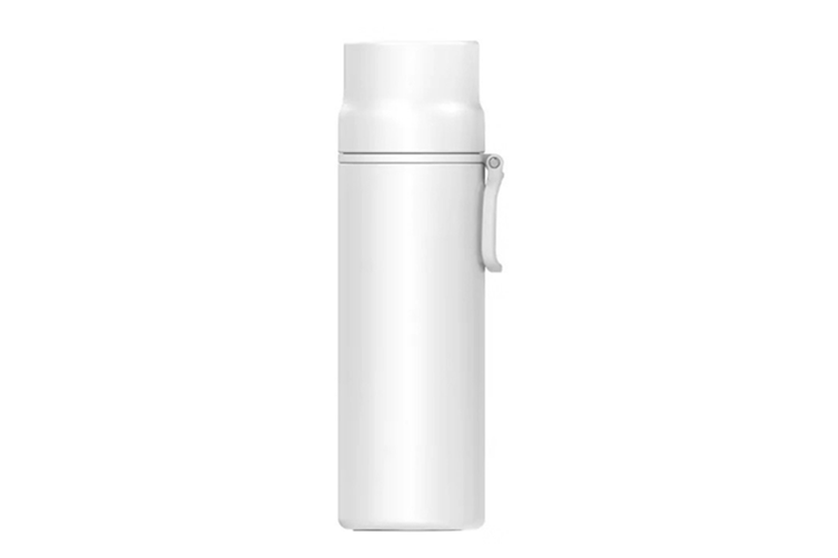 JunChang 450ml Household Large Capacity Thermos Water Bottle Outdoor Travel Kettle Cup Stainless-Steel Vacuum Insulated Bottle-White
