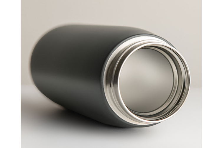 JunChang 450ml Accompanying Insulation Cup Stainless Steel Water Cup Portable Creative Portable Insulation Cup-Grey