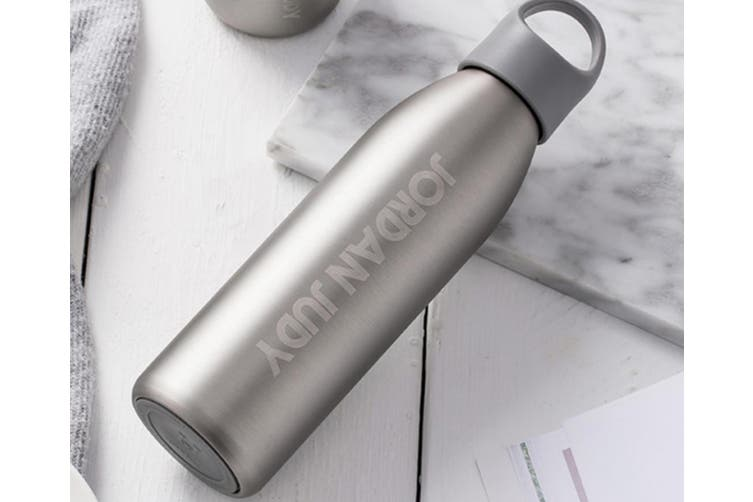 JunChang Insulation Cup Fashion Stainless Steel Water Cup Portable Large Capacity Creative Personality Bullet Water Cup-Grey-S