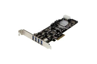 StarTech 4Port PCIe USB 3.0 Controller Card w/ 2 Independent Channels  [PEXUSB3S42V]