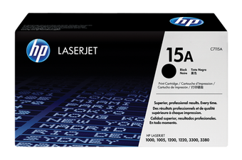HP 15A Black LaserJet Toner Cartridge (C7115A)