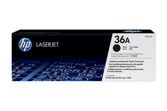 HP 36A Black LaserJet Toner Cartridge (CB436A)