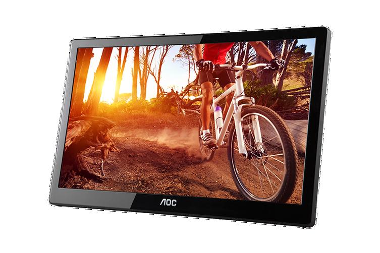 """AOC E1659FWU 15.6"""" USB Powered Portable LED Monitor  [E1659FWU/75]"""