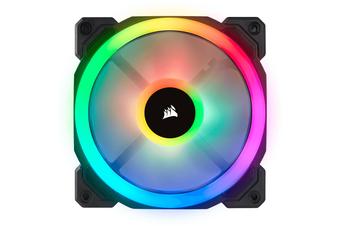 Corsair LL Series, LL120 RGB, 120mm Dual Light Loop RGB LED PWM Fan, Single Pack [CO-9050071-WW]