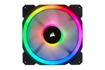 Corsair LL Series, LL140 RGB, 140mm Dual Light Loop RGB LED PWM Fan, 2 Fan Pack with Lighting Node PRO [CO-9050074-WW]