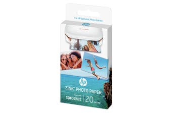 HP ZINK Sticky Backed Photo Paper 20 Pack - SPROCKET [1PF35A]