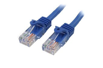 StarTech 0.5m Blue Cat5e Ethernet Patch Cable - Snagless
