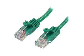 StarTech 0.5m Green Cat5e Ethernet Patch Cable - Snagless