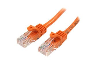 StarTech 0.5m Orange Cat5e Ethernet Patch Cable - Snagless