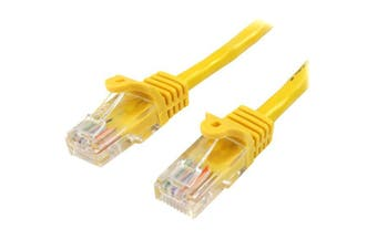 StarTech 0.5m Yellow Cat5e Ethernet Patch Cable - Snagless