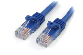 StarTech 5m Cat5e Patch Cable with Snagless RJ45 Connectors - Blue