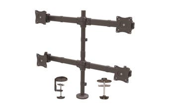 """StarTech Quad Monitor Mount for up to 27"""" Monitors - Heavy Duty Steel"""