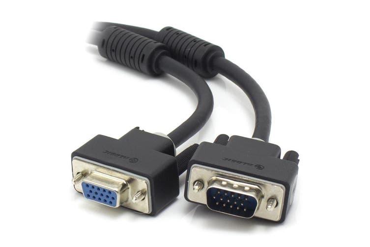 Alogic 2m VGA/SVGA Premium Shielded Monitor Extension Cable With Filter  Male to Female (VGA-MF-02)