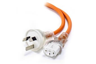 Alogic 5m Medical Power Cable Aus 3 Pin Mains Plug (Male) to IEC C13 (Female) Orange (MF-AUS3PC13-05-MC)