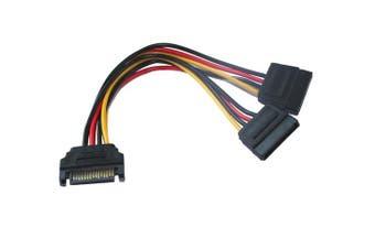 SATA Power Splitter  1M - 2F Splitter Cable 20CM [CB-PS-93]