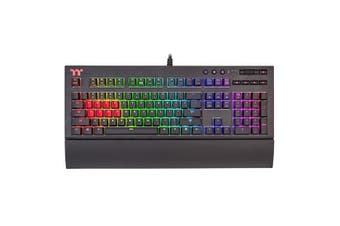 Thermaltake Premium X1 RGB Mechanical Gaming Keyboard - Cherry MX Blue Switch [KB-TPX-BLBRUS-01]