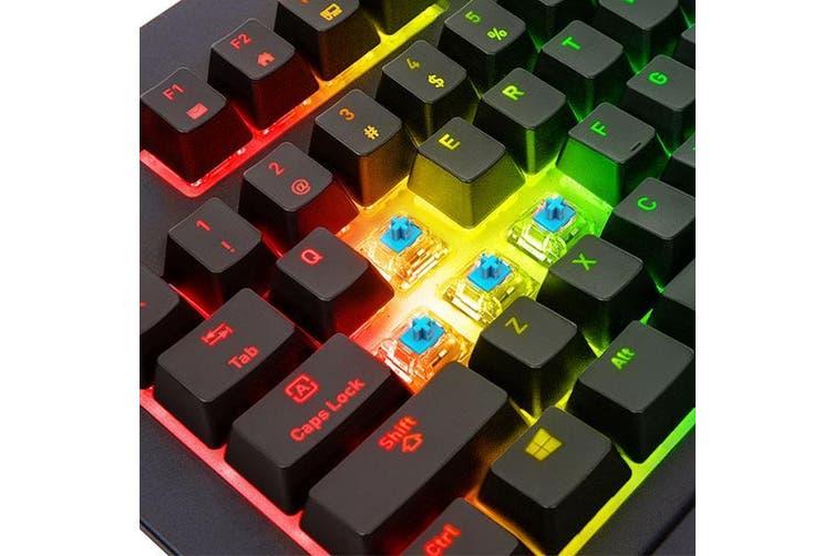 Thermaltake Premium X1 RGB Mechanical Gaming Keyboard - Cherry MX Blue Switch [KB-TPX-BLBRUS-01]