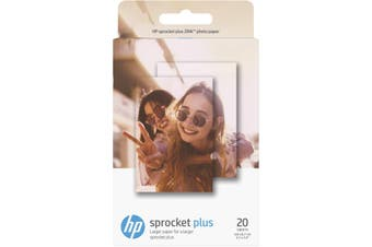 HP ZINK Sticky Backed Photo Paper 20 Pack - SPROCKET PLUS