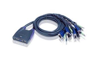 Aten 4-Port USB VGA/Audio Cable KVM Switch (0.9m, 1.2m) [CS64US-AT]