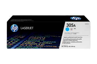 HP 305A Cyan Toner 2,600 Page Yield