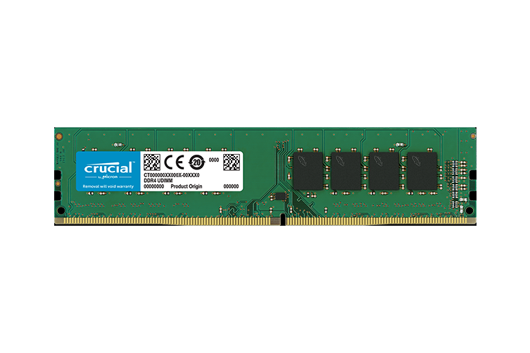 Crucial 8GB (1x8GB) DDR4 2666MHz UDIMM CL19 Single Ranked [CT8G4DFS8266]