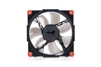 Inwin Aurora RGB Fan - Black/Red [RGBFAN-BLKRED-1PK]