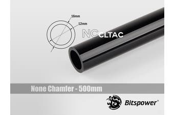 Bitspower None Chamfer Crystal Link Tube OD 16MM - Length 500MM (Black)