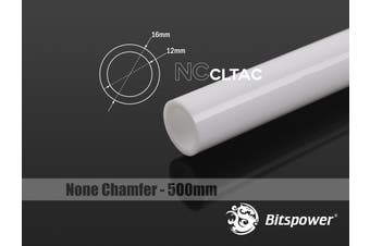 Bitspower None Chamfer Crystal Link Tube OD 16MM - Length 500MM (White)