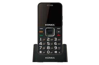 Konka U6 (3G, Keypad, 5MP) - Black/Silver [KONU6BLK]