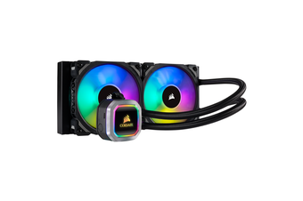 Corsair Hydro Series H100i RGB PLATINUM 240mm Liquid CPU Cooler [CW-9060039-WW]