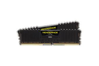 Corsair Vengeance LPX 16GB(2x8GB) DDR4-2666 DIMM - Black [CMK16GX4M2Z2666C16]